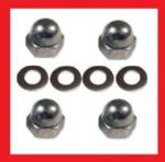 A2 Shock Absorber Dome Nuts + Washers (x4) - Honda CB450